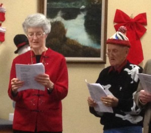 Peggy sings with seniors