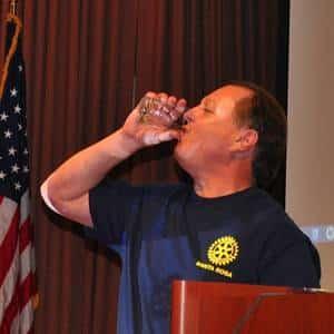 Doug Johnson demonstrates water purifier