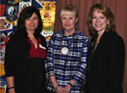 Eileen Carlisle with Madeleine O'Connell and Terri Porter