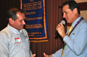 Rotary to Rotary: President Bill welcomes John Jones & Rotary Sunrise guests