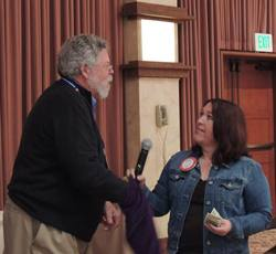 Blaine Goodwin & Red Badge Rotarian Manuela Gonzalez