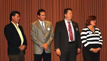 Darren Elliott, President Rousseau, Jeff Gospe and Anne Gospe