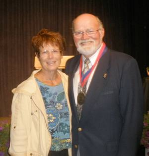 Steve Olson pictured with his wife, Eileen