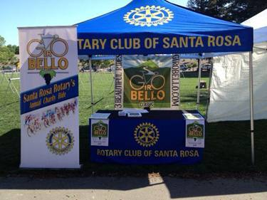 Rotary's new tent accompanied our club's volunteers to the Wells Fargo Center