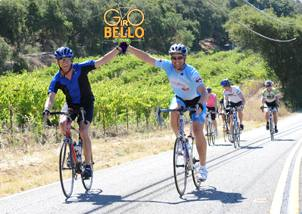 Cyclists through the vineyards - 2012