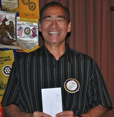 Rotarian of the Month Larry Miyano