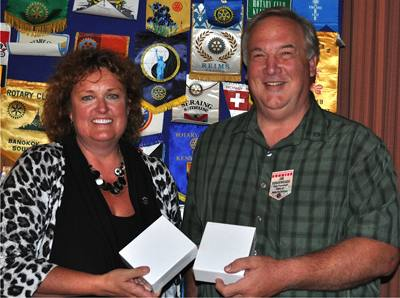 Linda Silkay and Jim Goodenough of Sebastopol Sunrise Club