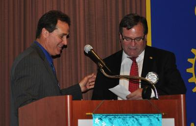 Rotarian of the Year Wayne Rowlands