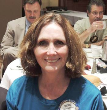 Rotarian of the Month Jackie McMillan