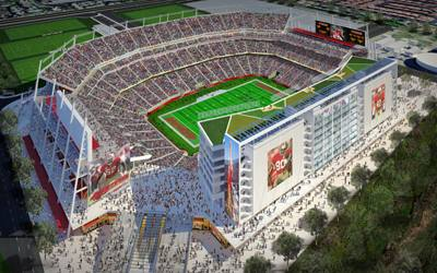 Artist's rendition of Levi Stadium