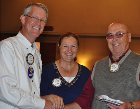 Tim Delaney, Cathy Vicini and Rich de Lambert. Happy Rotarians!