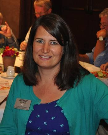 Stacy Small President of the Evening Rotary Club