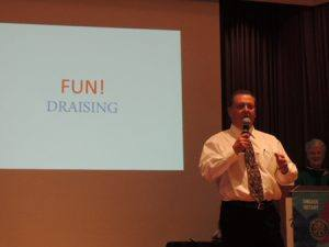 "Doug Johnson puts the ""fun"" in ""fundraising"""