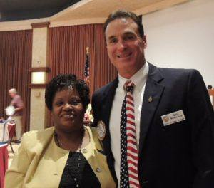Speaker Gloria Coulter with Bill Rousseau