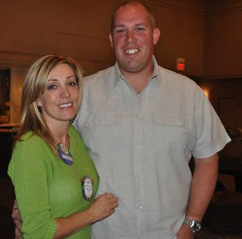 Greeter Carrie Ludke with her husband Josh