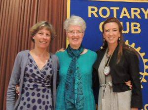Judy Glenn, President Peggy and Shannon McConnel