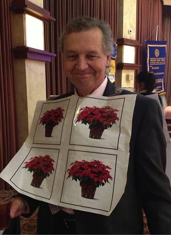 Dan Walker advertises the poinsettia sales