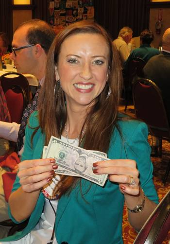 Shannon McConnell displays her riches
