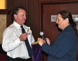 Doug Johnson tries his luck with Cathy Vicini