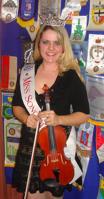 Ashley Kimball with her violin