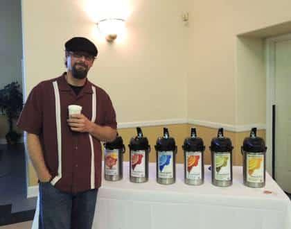 John Bixler with Bella Rosa Coffee