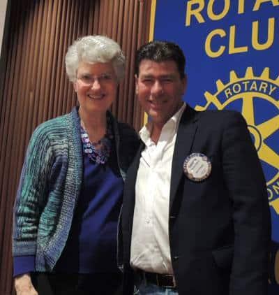 Peggy Soberanis and Darren Elliott