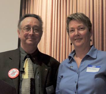 President Mark and speaker Jeannie Alderson