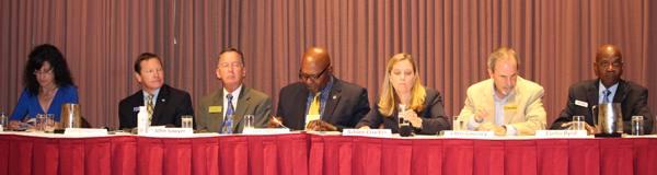 City Council candidates Colleen Fernland, Tom Schwedhelm, John Sawyer,  Lee pierce, Ashlee Crocker, Chris Coursey, and Curtis Byrd