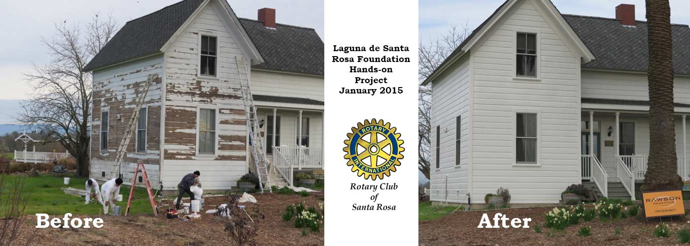 Laguna Foundation Offices Repaired and Repainted By The Rotary Club of Santa Rosa