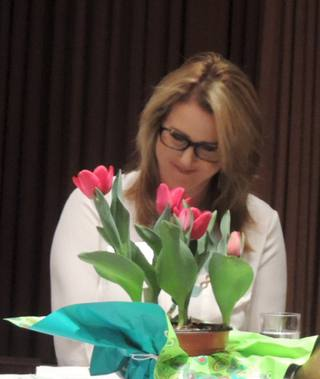 Marnie humbled by the gift of flowers