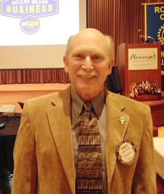 Robert Pierce provided a rotary means business minute