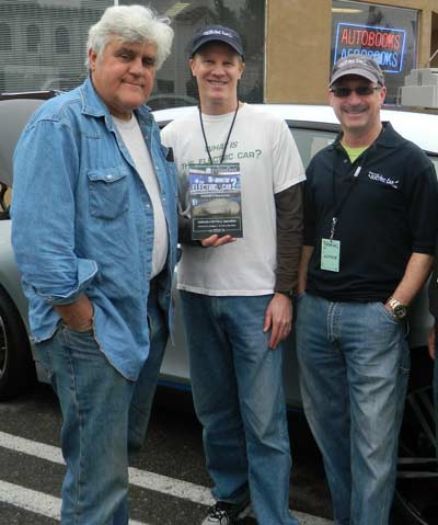 Book authors Jay Leno, Scott duPont & Brian Folb at a recent tour stop at the famous AutoBooks in Burbank, CA