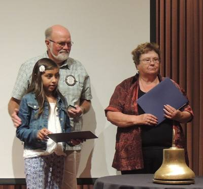 Steve Olson with his granddaughter, Aubry, and Jeanne Levin