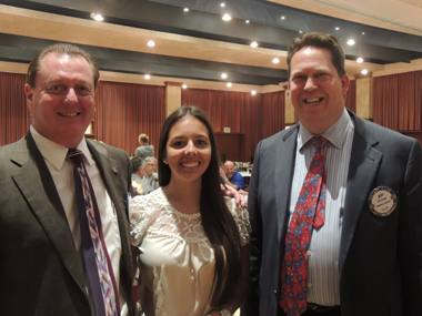 President Doug, Luciana Dalamas and Jeff Gospe