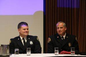 FFOTY Scott Byrn (L) with Fire Chief Anthony Gossner