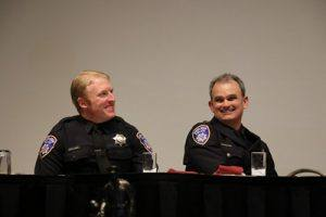 POOTY Tim Doherty (L) and Chief of Police Hank Schreeder