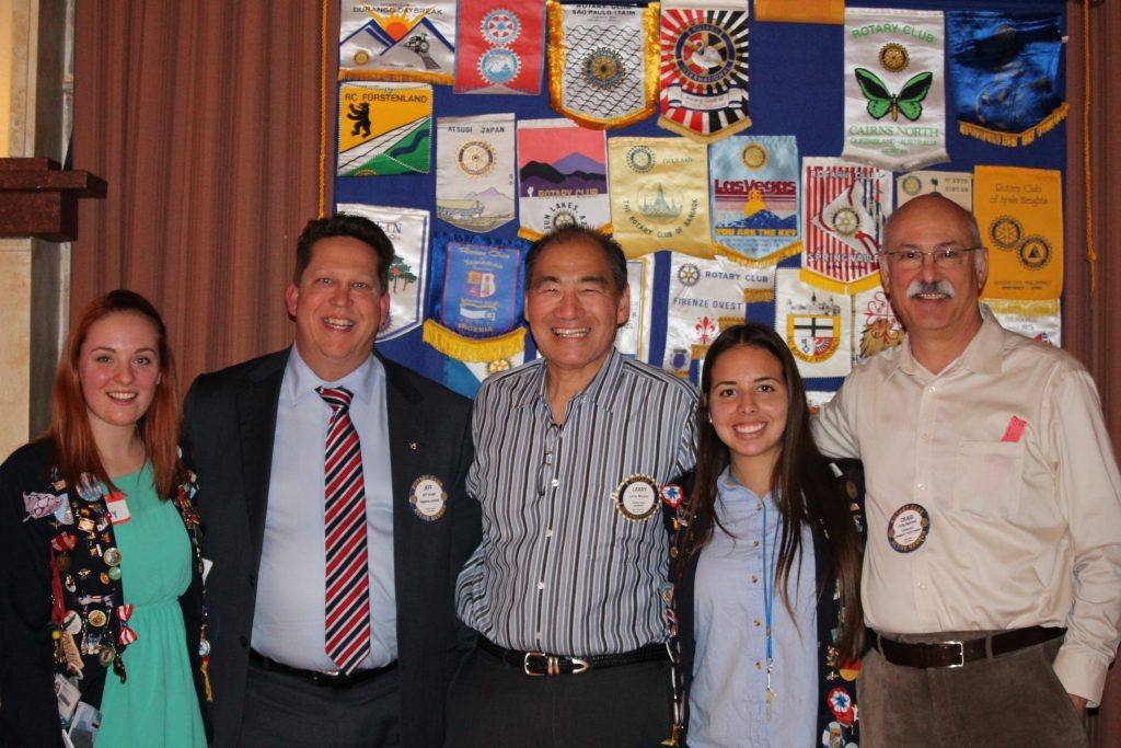 Exchange students with Jeff Gospe, Larryb Miyano and Craig Meltzner
