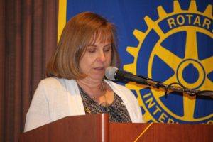 Vickie Hardcastle with invocation
