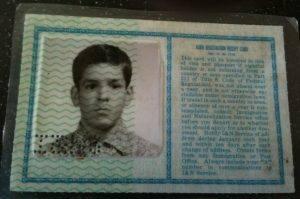 Jose Guillen's immigration card