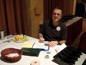 Our behind the scenes Rotarian Matt Fannin, making sure we all paid for lunch!