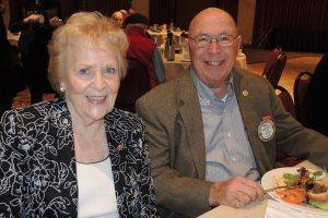 Past President Rich DeLambert and Faith Bredfeld