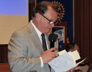 Past President Doug Johnson hosts the Past Presidents' Day event
