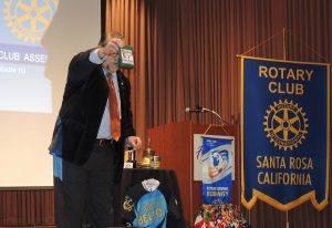 President Jose conducting the Paul Harris prizes
