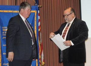 New member (transfer), Charles Gibbon, Executive Director of Boy Scouts