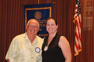 Rotarians of the month, John Poremba and Elizabeth Karbousky