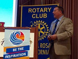 Program speaker President Tony Roehrick giving his thoughts on his upcoming year!