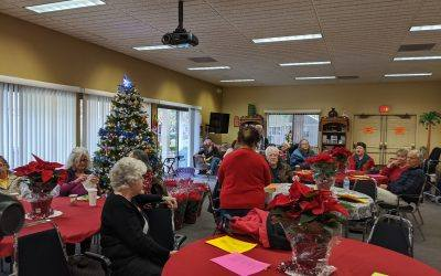 Poinsettia Party at Vigil Lights 2019